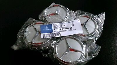 Oem Mercedes Amg Alloy Wheel Hub Centre Caps - Dark Grey 75Mm A B C E S Ml Class