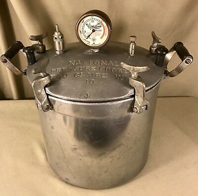 Vintage National Steam Pressure Cooker Canner Rare #10 Includes Many Extras