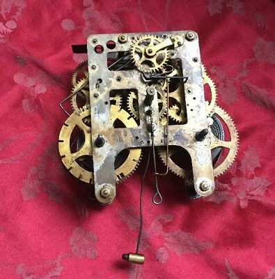 American Gilbert's Wall Clock Movement Spares Or Repair