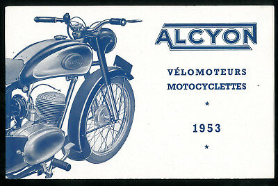 Catalogue ALCYON 1953 Motos Vélomoteurs - THOMANN AMC ZURCHER  Brochure Dépliant