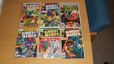 Ghost Rider Marvel Comics 1973 Series Lot Of 6: #'s 46,47,48,49,50,51 Bronze
