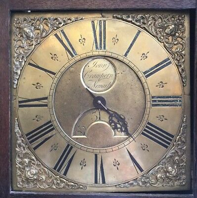 Antique Grandfather / LONGCASE CLOCK by John Crampern, Newark c1760 / 1770