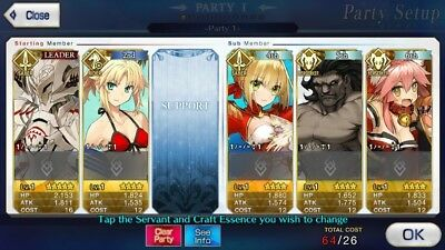 [NA]Fate Grand Order Starter account Double Mordred+ Nero+ Heracles+30SQ