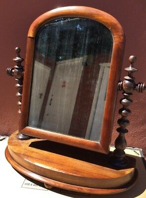 Antique Georgian / Early Victorian Dressing Table Mirror / Swivel. Stunning.