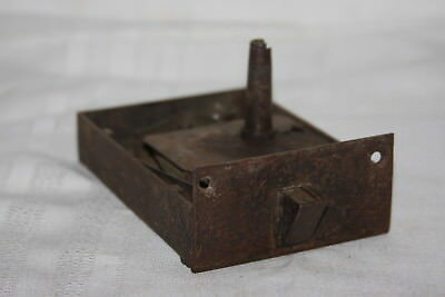 Early Civil War Door Set Mortise w Iron Plate Pocket Door Lock Set