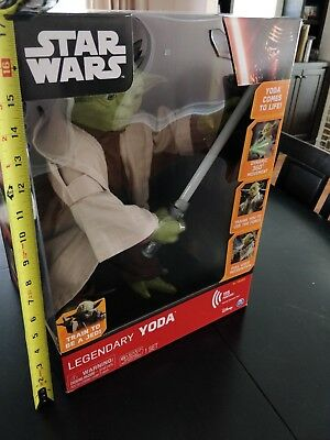Star Wars légendaire Yoda Maître Jedi Interactive Talking Figure Lights Up Large