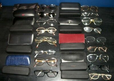 Vintage Lot of Eyeglasses 17 with cases