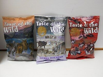 8 bags of Taste of the Wild Dog Food. 6 oz bags. Choose the Flavor NPGT