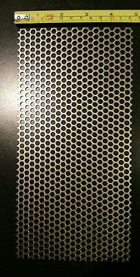 """3/16"""" HOLES 16 GAUGE 304 STAINLESS STEEL PERFORATED SHEET approx 9 1/2 × 4 3/4"""
