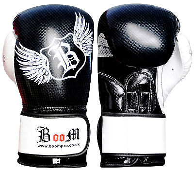 12oz Quality Leather Boxing Gloves MMA Sparring Punch Bag Muay Thai Training