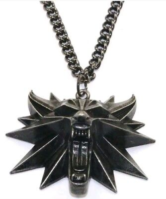 THE WITCHER 3 COLLANA WILD HUNT Medaglione Necklace Lupo Geralt di Rivia PS4