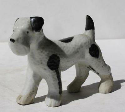 Wire Fox Terrier Dog Figure Ceramic-Porcelain Hand Painted Made in Japan VTG-#2