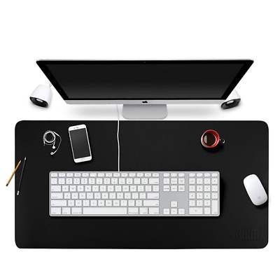"""Large Leather Desk Mat 35""""x18"""" Smooth Blotter Protector Nonslip Gaming Mouse Pad"""
