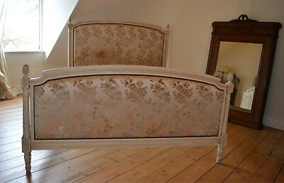 French Vintage Upholstered Louis Xvi Double Bed