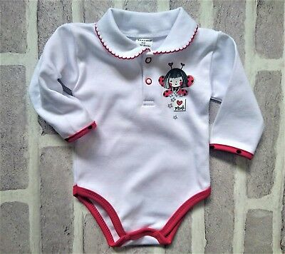 Baby Girls COLLAR Bodysuit Playsuit Shirt 100%Cotton 3-6/6-9 Months BNWT