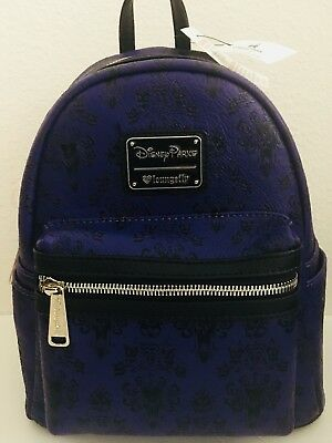 NEW DISNEY Parks Loungefly HAUNTED MANSION Mini Backpack Purse Bag