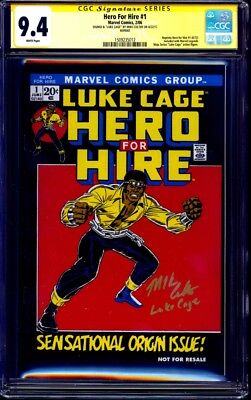 Hero for Hire #1 MARVEL LEGENDS REPRINT CGC SS 9.4 signed Mike Colter LUKE CAGE