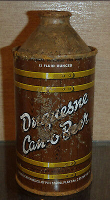 Irtp Duquesne Can O Beer High Profile Cone Top Beer Can Pittsburgh Pa