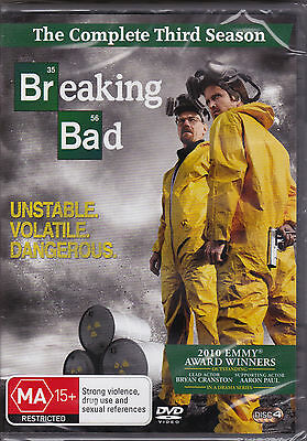 Breaking Bad - The Complete Third Season - DVD (PAL Region 4) Brand New Sealed