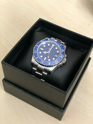 Submariner Homage Watch Automatic Miyota 8215 Blue Dial Sapphire Glass Sterile