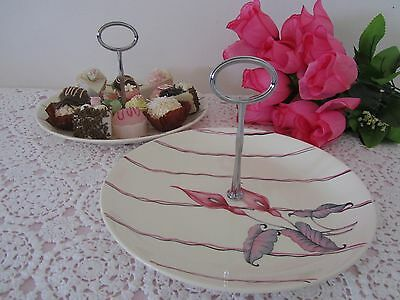 MYOTT Staffordshire Large 1 Tier Handled CAKE STAND Sandwich Serving plate