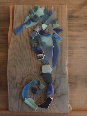 Shades Of Blue Micro Plastic Seahorse Wall Art - Help Save The Planet!
