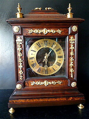 Pendulum religious signed THURET PARIS WOOD XVII XIX° LOUIS XIV Bracket Clock