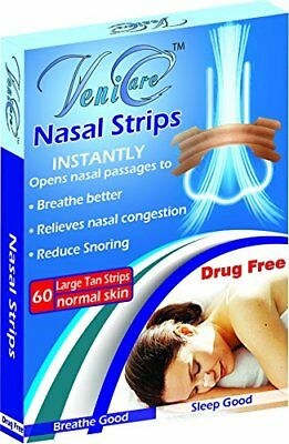 NASAL STRIPS Reduce Snoring Right Now Relieves and Opens Passages Large 60 pcs