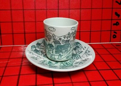 Nymolle Hoyrup Art Faience Made Denmark Limited Edition 4006 Cup & Saucer Hygge