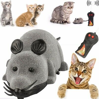 New Remote Control RC Rat Mouse Wireless For Cat Dog Pet Funny Toy Gift