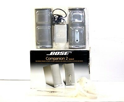Bose Companion 2 Series II Multimedia Speaker System Computer PC Home Theater