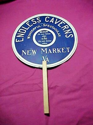 Endless Caverns New Market VA Stick Advertising Fan