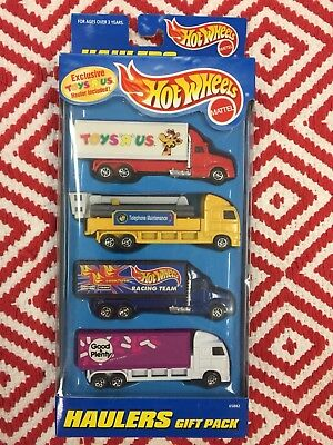 1997 Mattel Hot Wheels Toys R Us Exclusive Haulers Gift Pack New