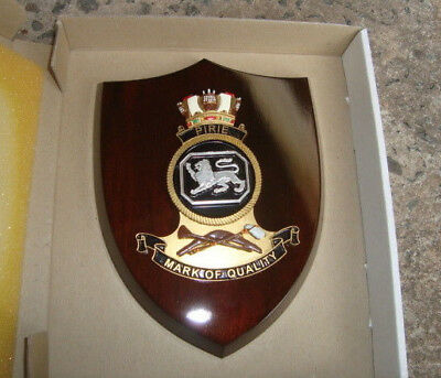 "Naval Ship Crest ""PIRIE"" mounted on Wooden Shield FREE POST"