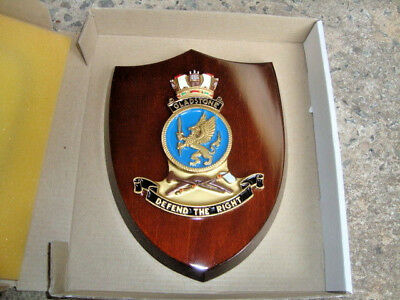 "Naval Ship Crest ""GLADSTONE"" mounted on Wooden Shield FREE POST"