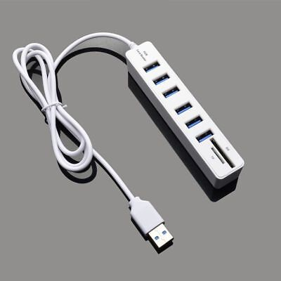 Ulamore Type C 3 Port Aluminum USB 3.0 Hub With TF Multi-In-1 Card Reader