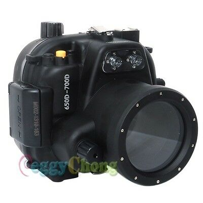 40M 130ft Waterproof Underwater Housing Case For Canon 650D 700D Rebel T4i T5i