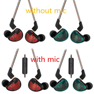 KZ AS10 5BA HiFi Stereo In-ear Earphone High Resolution Earbuds Balanced Driver