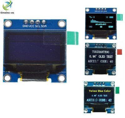 "Yellow/Blue/White 0.96""  128X64 OLED I2C IIC Serial LCD LED SSD Display SSD1306"