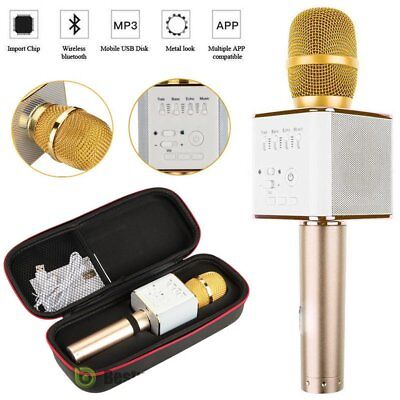 Q9 Wireless Handheld Microphone KTV Karaoke Stereo USB Player Bluetooth BE