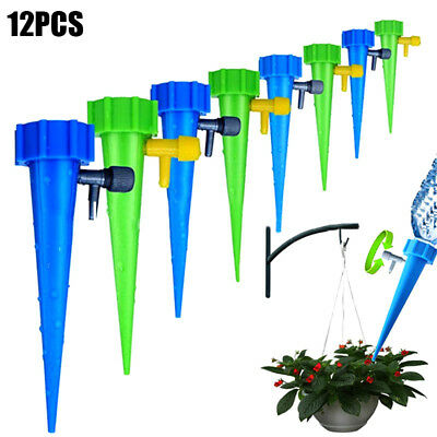 12pcs Plant Self Watering Spikes Stakes Automatic Valve Waterer For Garden Lawn