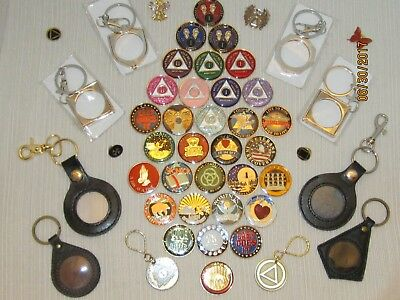 Alcoholics Anonymous, Narcotics Anonymous, Tri-plate, coins, medallion