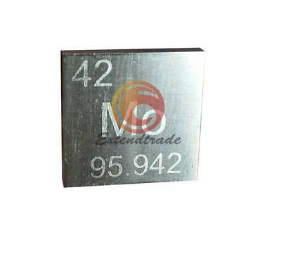 High Purity 99.9% Molybdenum Metal MO 10.5g Carved Element Periodic Table 10mm