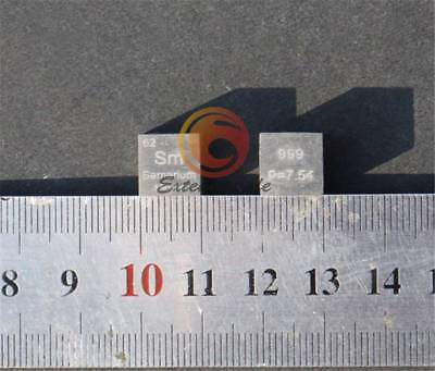 NEW 99.9% High Purity Samarium Sm Metal Carved Element Periodic Table 10mm Cube