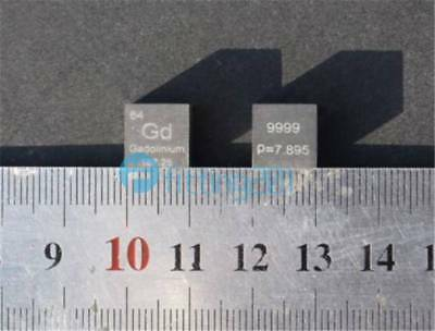 Collection High Purity 99.99% Gadolinium Gd Metal Carved Element 10mm Cube NEW