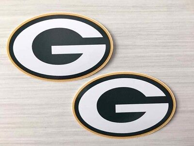 2x Green Bay Packers Car Bumper Laptop Scrapbook Vinyl Die Cut