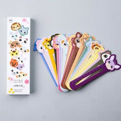 30X Kawaii Fun Animal Farm Cartoon Bookmark Paper For Books Babys  CL