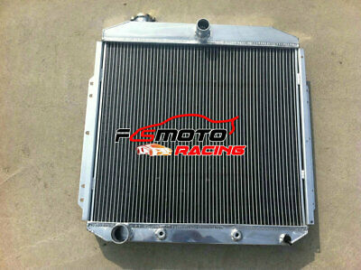 3 ROW For FORD PICKUP F350 F250 F100 FORD Engine 1953-1956 54 55 Alloy radiator