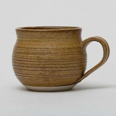 Australian Studio Pottery Coffee Cup Hot Chocolate Mug Kaylee Pottery Salt Glaze
