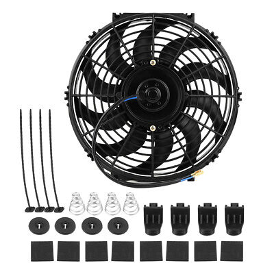 "12"" inch 12V Universal Slim Fan Pull Push Electric Radiator Cooling Fan Mounting"